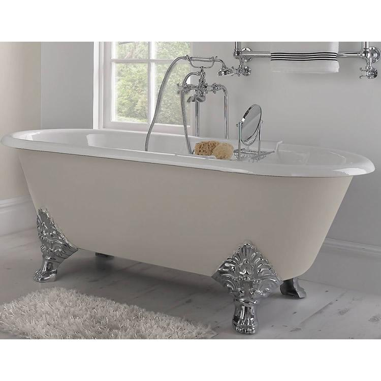 Imperial roseland double ended cast iron bath victorian for Best bathrooms 4 u