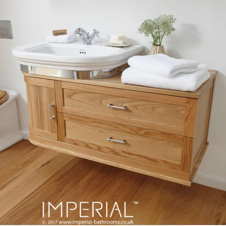 Imperial Carlyon Thurlestone Wall Hung Offset Vanity Unit Amp Basin Victorian Bathrooms 4 U