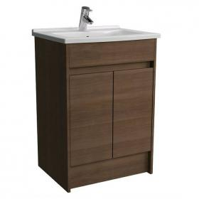 Vitra S50 600mm Oak Floor Standing Vanity Unit & Basin