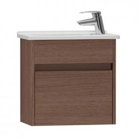 Vitra S50 500mm Oak Compact Single Door Vanity Unit & Basin