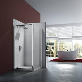 Merlyn 6 Series Pivot Shower Door With Side Panel