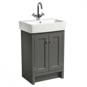 Roper Rhodes Hampton Pewter  600mm Countertop Unit & Basin
