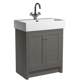 Roper Rhodes Hampton Pewter 700mm Vanity Unit & Basin