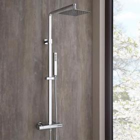 Hudson Reed Surge Thermostatic Bar Shower With Kit