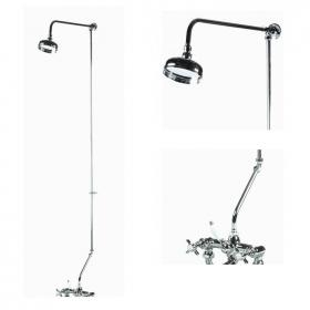 Ultra Rigid Riser Kit for Bath Shower Mixer Including Swivel