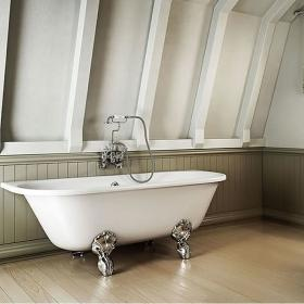 Burlington Avantgarde Back To Wall Freestanding Bath & Feet