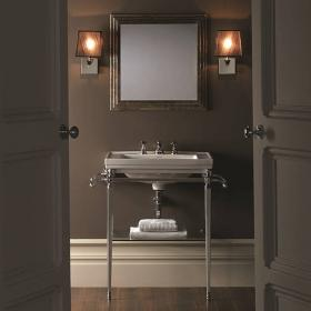 Imperial Astoria Deco Large Basin Stand with Glass Shelf