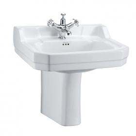 Burlington Edwardian Medium 56cm Basin With Semi Pedestal