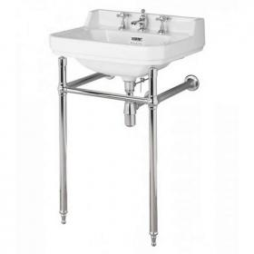 Bayswater Fitzroy 560mm Basin With Chrome Wash Stand
