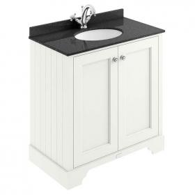 Bayswater Pointing White 800mm 2 Door Vanity Unit & Marble Worktop