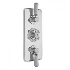 Bayswater White & Chrome Triple Concealed Shower Valve With Diverter