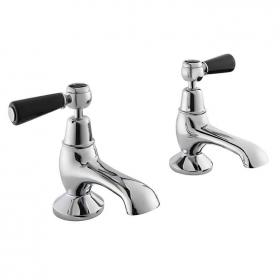 Bayswater Black Lever Bath Taps