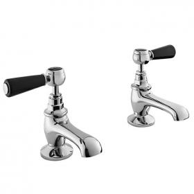 Bayswater Black Lever Basin Taps