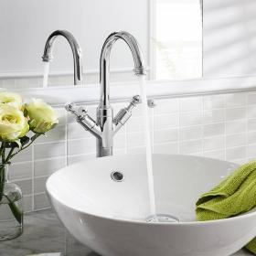 Crosswater Belgravia Lever Chrome Tall Basin Monobloc