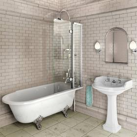 Burlington Bath Screen With Access Panel - 85cm x 145cm