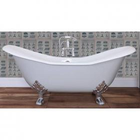 JIG Banburgh Large Double Ended Slipper Cast Iron Bath 1825 x 780mm with Feet
