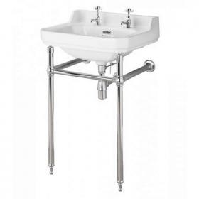 Bayswater Fitzroy 500mm Basin With Chrome Wash Stand