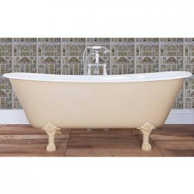 JIG Berwick Double Ended Cast Iron Bath 1720 x 680mm with Feet