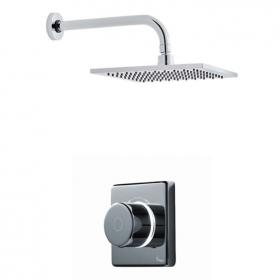 Britton Contemporary Digital Shower Valve With Wall Mounted Square Fixed Head
