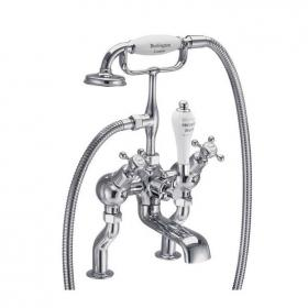 Burlington Claremont Angled Deck Mounted Bath Shower Mixer