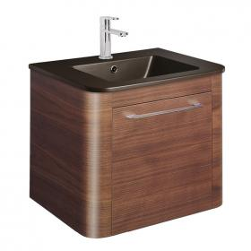 Bauhaus Celeste 600mm American Walnut Vanity Unit & Plus+Ton Basin
