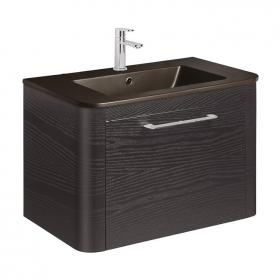 Bauhaus Celeste 800mm Black Ash Vanity Unit & Plus+Ton Basin