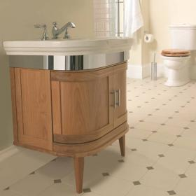 Imperial Carlyon Thurlestone Oak Curved Vanity Unit & Basin