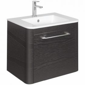 Bauhaus Celeste 600mm Black Ash Vanity Unit & Basin