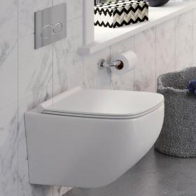 Crosswater Infinity Rimless Wall Hung WC & Soft Close Seat