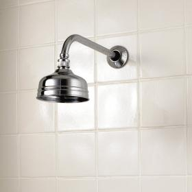 Imperial Dart Traditional Rose Shower Head and Wall Arm