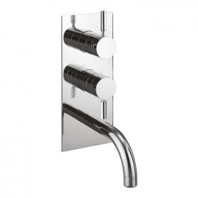 Crosswater Design Thermostatic Shower Valve With Bath Spout & Diverter