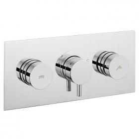 Crosswater Dial Landscape Shower Valve 2 Control With Kai Lever Trim