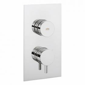 Crosswater Dial Portrait Shower Valve 1 Control With Kai Lever Trim