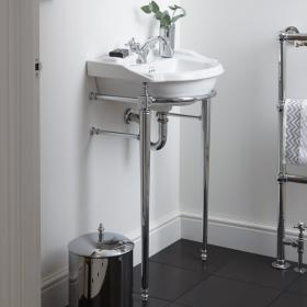 Imperial Drift Small Basin Stand with Towel Rail