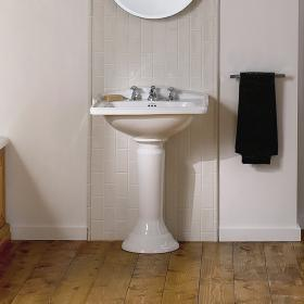 Imperial Drift Square Large Basin and Pedestal