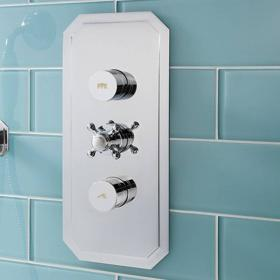 Crosswater Dial Portrait Shower Valve 2 Control With Belgravia Trim