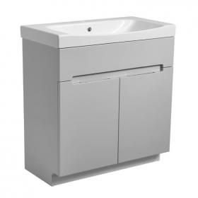 Roper Rhodes Diverge Gloss Light Grey 800mm Freestanding Unit & Basin