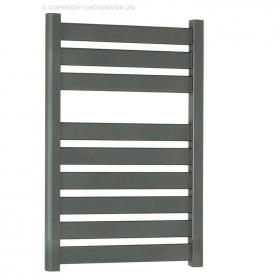 Bauhaus Edge Anthracite 500mm Flat Panel Towel Rail
