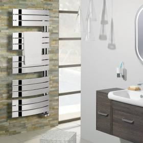 Bauhaus Essence 550mm Curved Flat Panel Towel Rail