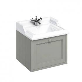 Burlington Olive 650mm Wall Hung Vanity Unit & Classic Basin