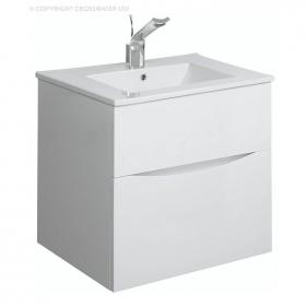 Bauhaus Glide II 50 White Gloss Vanity Unit & Ceramic Basin