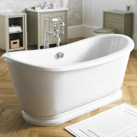 Old London Greenwich Double Ended Freestanding Bath With Skirt