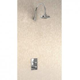 Burlington Trent Concealed Thermostatic Shower Valve, Curved Arm & 6
