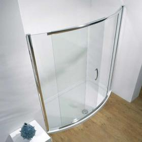Kudos Infinite Bowed Sliding Shower Door & Tray
