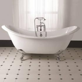 Imperial Sheraton Double Ended Cast Iron Slipper Bath