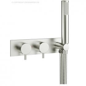 Crosswater Mike Pro Brushed Stainless Steel Thermostatic Shower Valve With Kit