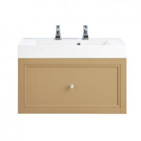 Heritage Caversham Oak Wall Hung Vanity Unit With Hampstead Basin