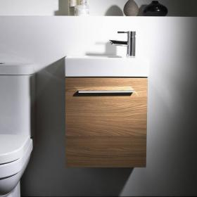 Tavistock Kobe 450mm Walnut Wall Mounted Unit & Basin