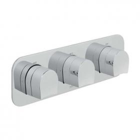 Vado Kovera Landscape Triple Outlet Thermostatic Shower Valve