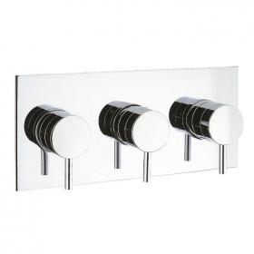Crosswater Kai Lever Thermostatic Landscape Shower Valve With 3 Way Diverter